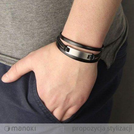 Biżuteria Manoki Skórzana bransoletka męska BA547B