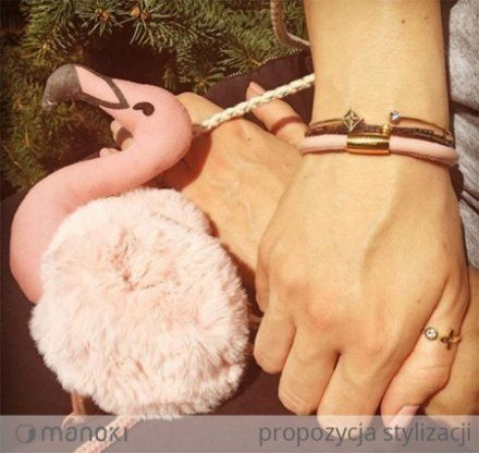 Biżuteria Manoki Stalowa bransoletka damska BA567