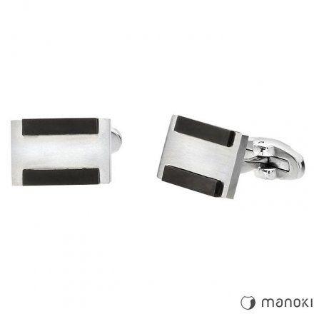 Biżuteria Manoki Stalowe spinki męskie MA042
