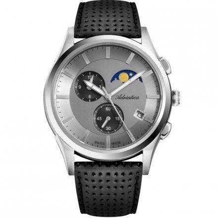 Zegarek Męski Adriatica na pasku A8282.5217CH - Chronograf Swiss Made
