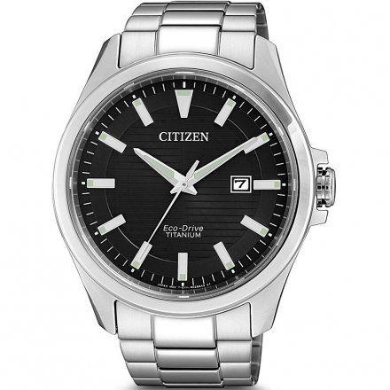 Citizen BM7470-84E Zegarek Męski na bransolecie Eco Drive Super Titanium Citizen