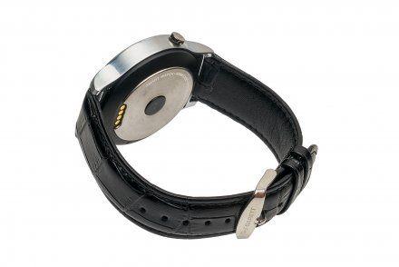Smartwatch Garett GT18 srebrny skórzany