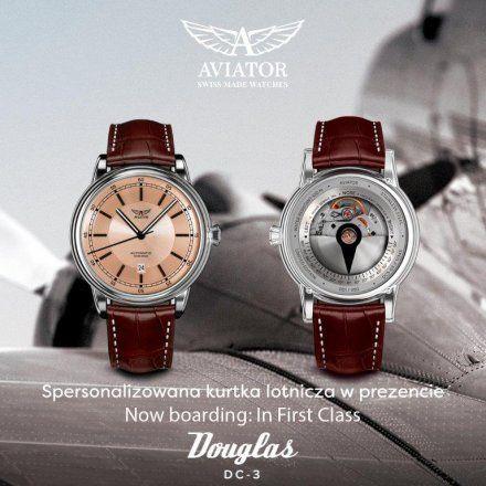 Zegarek Męski Aviator V.3.32.0.232.4 Douglas DC-3