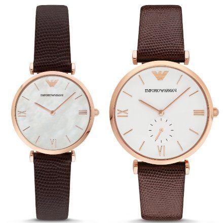 Komplet Emporio Armani AR9042 zegarki męski i damski