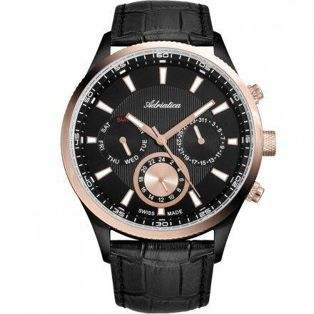 Zegarek Męski Adriatica na Pasku A8149.K214QF - Multifunction Swiss MadeN