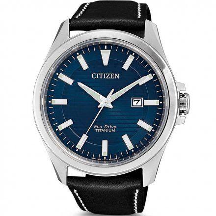 Citizen BM7470-17L Zegarek Męski na pasku Eco Drive Super Titanium Citizen