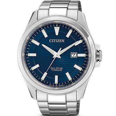 Citizen BM7470-84L Zegarek Męski na bransolecie Eco Drive Super Titanium Citizen