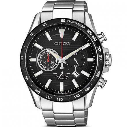 Citizen CA4444-82E Zegarek Męski na bransolecie Eco Drive Super Titanium Citizen