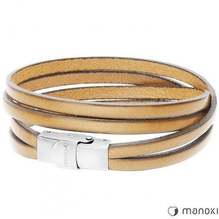 Biżuteria Manoki Skórzana bransoletka męska BA337E