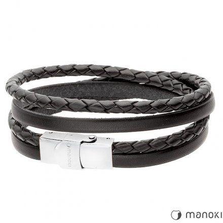 Biżuteria Manoki Skórzana bransoletka męska BA338B