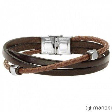 Biżuteria Manoki Skórzana bransoletka męska BA653A