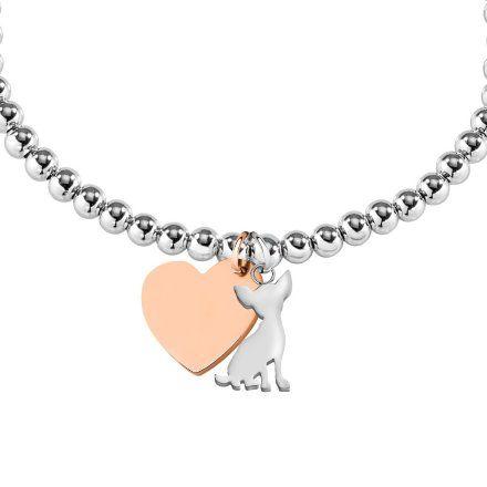 Bransoletka damska z charmsami LA PETITE STORY DOG&KITTY JEWEL LPS05AQI01