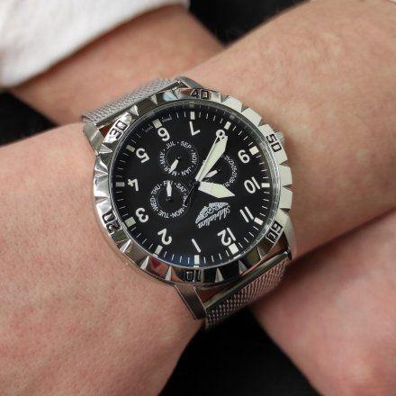 Zegarek Męski Adriatica na bransolecie A1108.5124QF - Multifunction Swiss Made