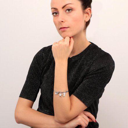 Bransoletka damska z charmsami LA PETITE STORY BANGLE LPS05AQJ10