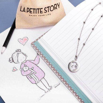 Naszyjnik damski z charmsami LA PETITE STORY BABIES JEWEL LPS10AQL01