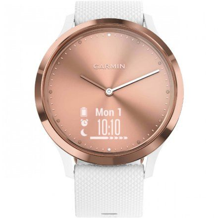 GARMIN Vivomove HR Biały zegarek hybrydowy 010-01850-22