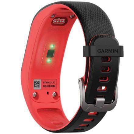 GARMIN monitor aktywności Vivosport czarno-czerwony 010-01789-21