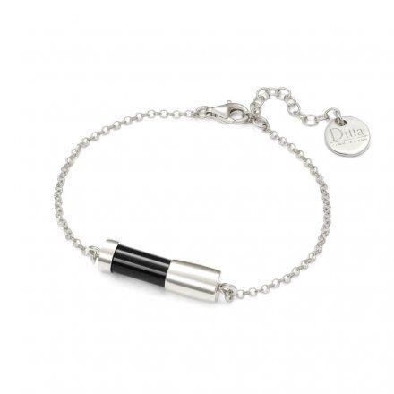 Bransoletka srebrna z onyksem Biżuteria Ditta Zimmermann DZB192/ONX/R