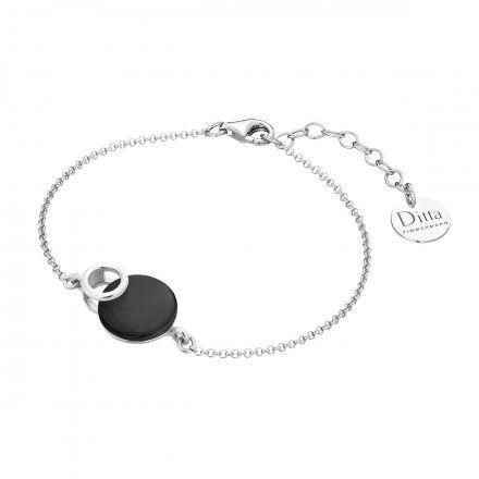 Bransoletka srebrna z onyksem Biżuteria Ditta Zimmermann DZB261/ONX/R