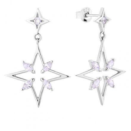 Kolczyki srebrne z kryształkami Biżuteria Ditta Zimmermann DZK294/KN/R