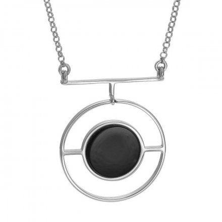 Naszyjnik srebrny z onyksem Biżuteria Ditta Zimmermann DZN193/ONX/R