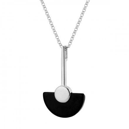 Naszyjnik srebrny z onyksem Biżuteria Ditta Zimmermann DZN241/ONX/R