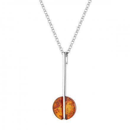 Naszyjnik srebrny z bursztynem Biżuteria Ditta Zimmermann DZN251/BUR/R