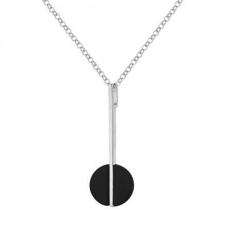 Naszyjnik srebrny z onyksem Biżuteria Ditta Zimmermann DZN251/ONX/R