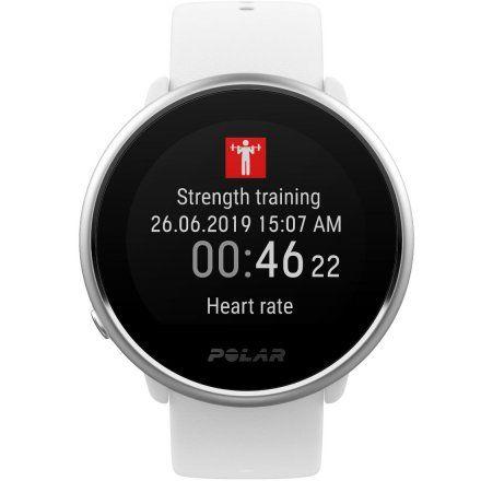 Polar IGNITE Biały zegarek fitness z GPS M/L