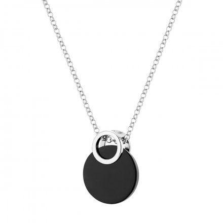 Naszyjnik srebrny z onyksem Biżuteria Ditta Zimmermann DZN259/ONX/R