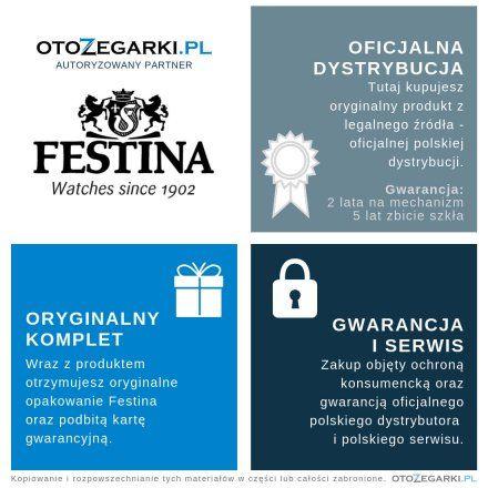 Zegarek Damski Festina 20009/3 SWISS MADE F20009 3