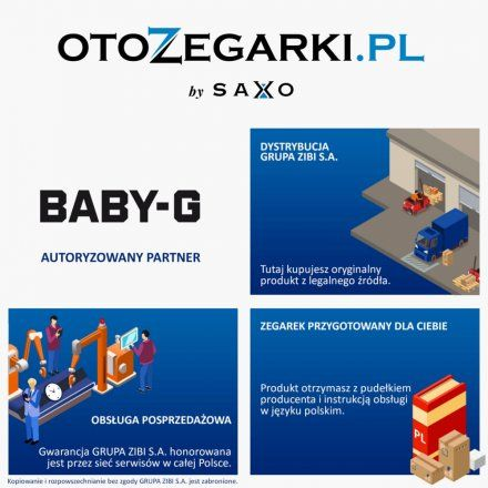 Zegarek Damski Casio MSG-C100G-7AER Baby-G MSG C100G 7