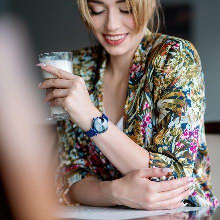 Smartwatch Garett Women Lisa niebieski skórzany