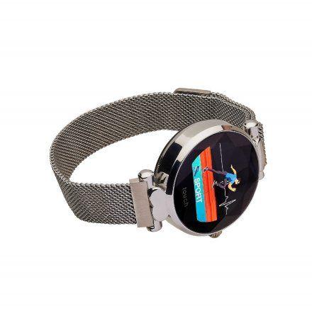 Smartwatch Garett Women Lisa srebrny stalowy