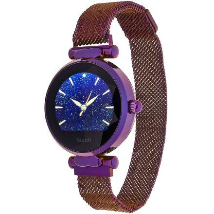 Smartwatch Garett Women Lisa fioletowy stalowy