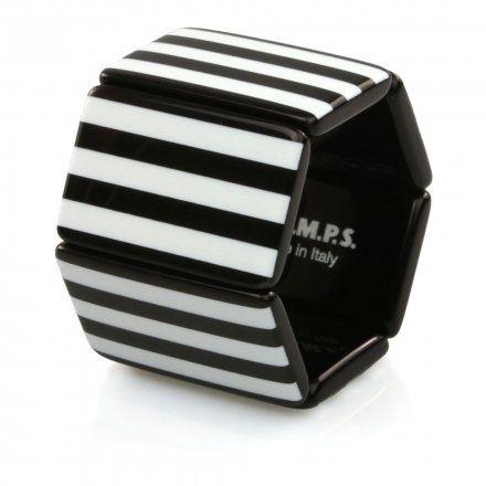Bransoleta S.T.A.M.P.S. Belta Stripes Black & White 102245 0000