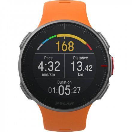 Polar VANTAGE V Pomarańczowy zegarek z pulsometrem i GPS + Pas H10