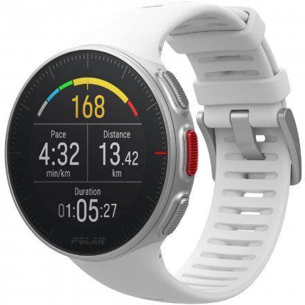 Polar VANTAGE V Biały zegarek z pulsometrem i GPS + Pas H10