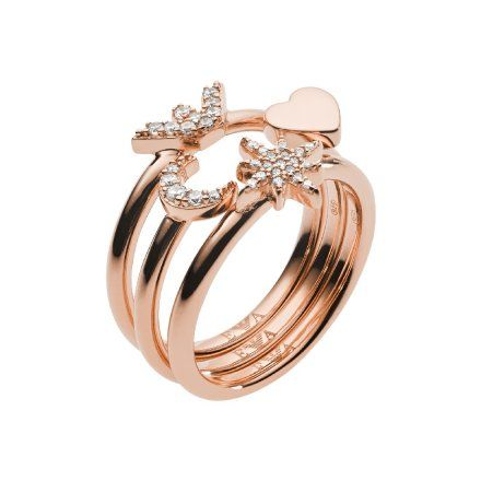 Pierścionek damski Emporio Armani EG3392221 r. 19 Oryginalna Biżuteria EA