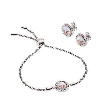Kolczyki + bransoletka Emporio Armani EGS2652040 Oryginalna Biżuteria EA