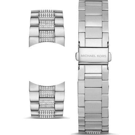 Bransoletka srebrna z kryształkami do zegarka Michael Kors Access Bradshaw 2.0 MKT5088 22 mm