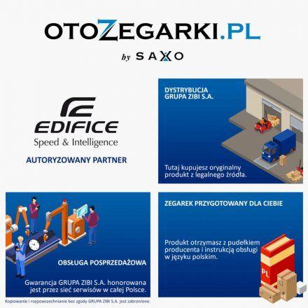 Zegarek Męski Casio EFR-S107L-1AVUEF Edifice Momentum EFR S107L 1AVU