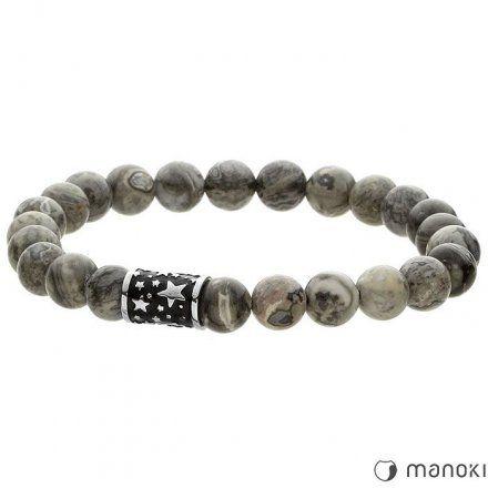Biżuteria Manoki bransoletka męska z kamieni naturalnych BA419S