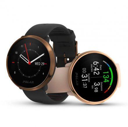Polar IGNITE Różowy- Złoty S zegarek fitness z GPS
