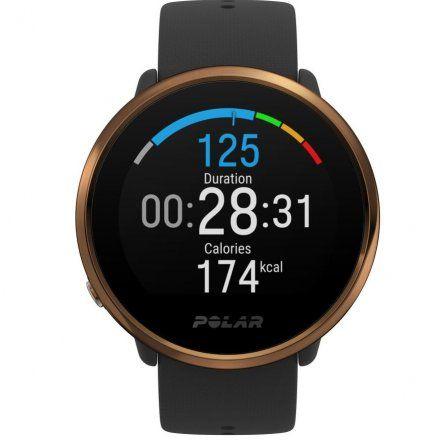 Polar IGNITE M/L Czarny-Miedziany zegarek fitness z GPS