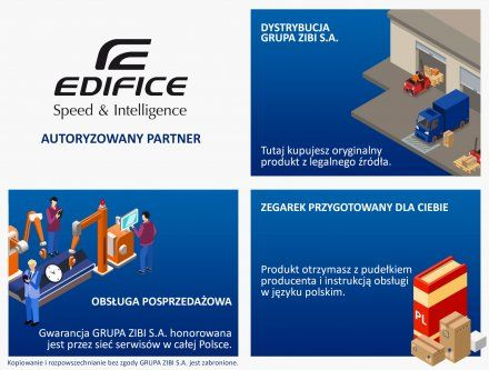 Zegarek Męski Casio EQB-1000D-1AER Edifice Premium EQB 1000D 1A