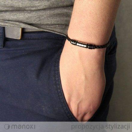 Biżuteria Manoki Skórzana bransoletka męska BA345B