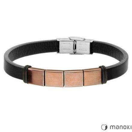 Biżuteria Manoki Skórzana bransoletka męska BA657A