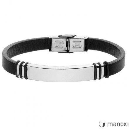 Biżuteria Manoki Skórzana bransoletka męska BA399B