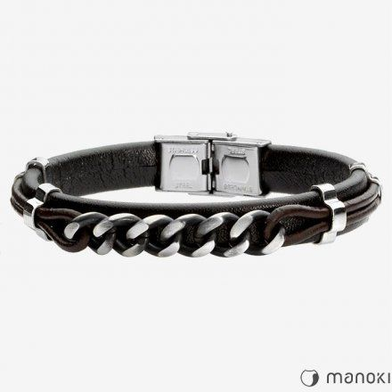 Biżuteria Manoki Skórzana bransoletka męska BA502